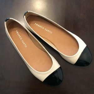 Franco Sarto Leather Cream Flats 6